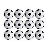 Table Soccer Foosballs Replacements Mini Black and White Soccer Balls (12 Pack)