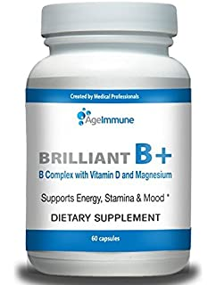 Doctor Formulated Vitamin B Supplements Complex with B6, D, Magnesium, Methylated B12,