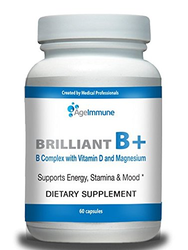 Doctor Formulated Vitamin B Supplements Complex with B6, D, Magnesium, Methylated B12, and Folate (Folic Acid). Best Quality in Class for Energy Support. Fights Stress and Depression.