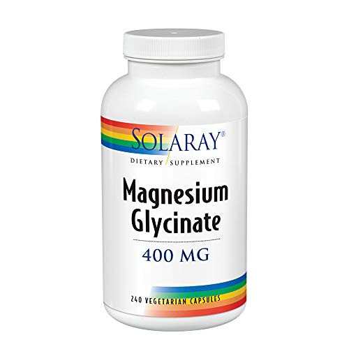 (Solaray Magnesium Glycinate 400 mg VCapsules, 240 Count)