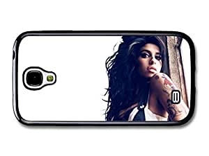 AMAF ? Accessories Amy Winehouse Posing at the Window with Black and White Dress case for Samsung Galaxy S4
