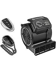 Vacmaster Cardio 54 Gym Vloerventilator met afstandsbediening Fiets Ventilator Stil, 3 snelheden Tapijtdroger Ventilator, klein en licht voor koeling, drogen en waterschadeherstel