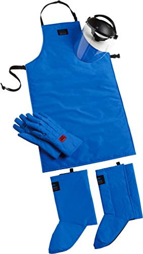 Cryo-Protection Safety Kit Plus: Waterproof Mid-Arm Cryo-Gloves, 42'' Cryo-Apron, Cryo-Gaiters, Cryo-Protection Face Shield (Small) (Small) by Tempshield (Image #1)