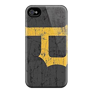 Shock Absorption Cell-phone Hard Covers For Iphone 4/4s (EOo4000iZiJ) Customized Beautiful Pittsburgh Pirates Skin