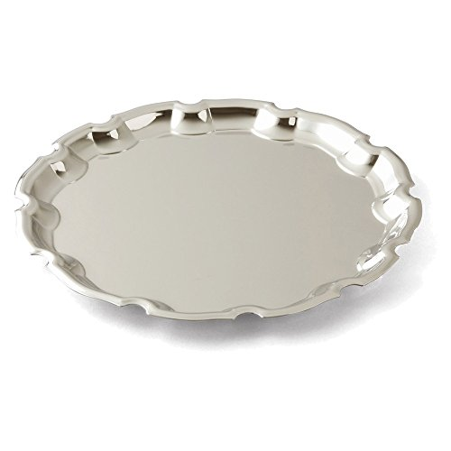 Jewelry Adviser Gifts Nickle-plated Round 12inch Chippendale Tray