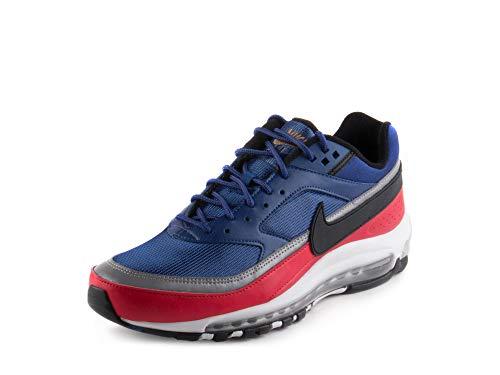 Nike Mens Air Max 97 /BW Deep Royal Blue/Black Leather Size 9