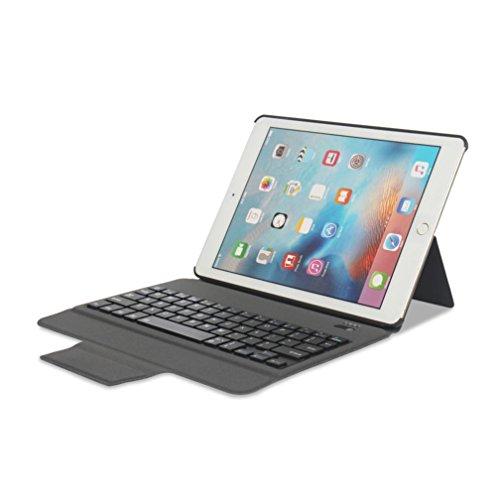 Price comparison product image Apple iPad Bluetooth Keyboard Case,Sunfei Ultra Aluminum Bluetooth Keyboard with Leather Case Cover For iPad Pro 9.7 iPad Air1/2 (Black)