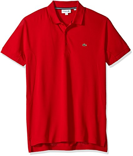 Technical Short Sleeve Polo Shirt - Lacoste Men's Short Sleeve '85th Anni' Future Regular Fit Polo, PH6202, Red, Large