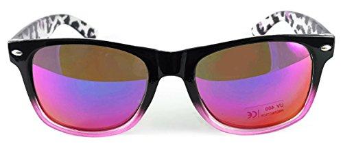 Gafas dos frame de Lens Vintage amp; Espejo Classic Black sol reflective tonos Red New UV400 Wayfarer Lentes green Unisex Retro de 5xAwFqBBg