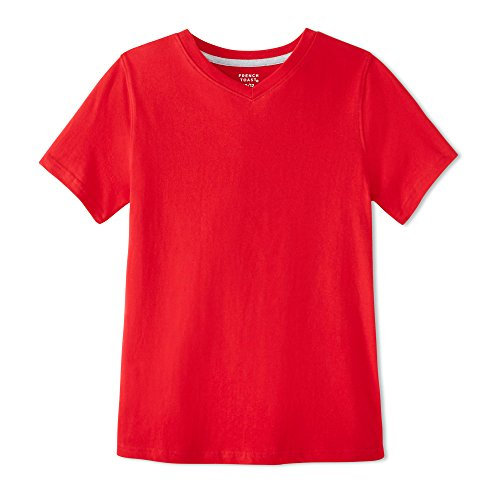 (French Toast Boys' Short Sleeve V-Neck Tee, Red, 6 )
