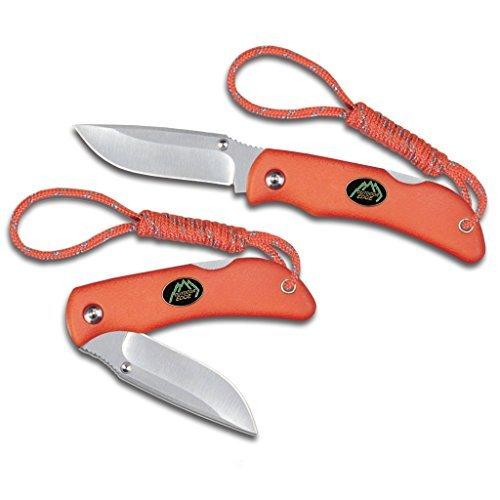 Outdoor Edge Cutlery MB-20C 5-Inch Mini-Blaze, Small Pocket Folder with Orange Kraton Handle, 2.2-Inch Blade, Orange by Outdoor Edge Cutlery