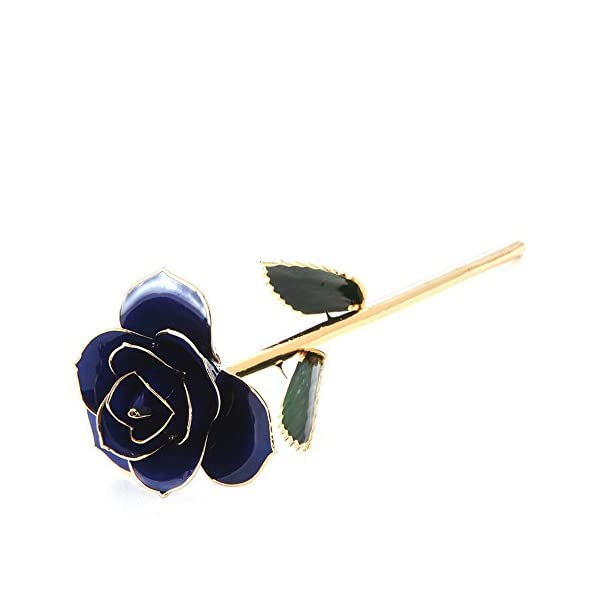 YSBER-24k-Gold-Real-Rose-Flower-Eternal-Golden-Plated-Rose-with-Clear-Display-Stand-in-Gift-Box-Best-Romantic-Loving-Gift-for-WifeGirlfriendBirthdayMothers-DayWedding-Anniversary