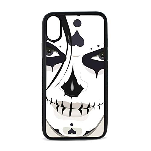 KEAKIA Halloween Guy Makeup Style iPhone X Case Rubber Shockproof Cover Protective Case for Apple iPhone X/XS