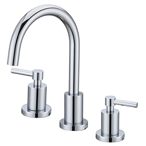 Polished Chrome Aerator - Bathroom Basin Sink Brass Faucet Fixtures Brushed Nickel 3 Holes Two Handles Deck Mount Mixer Tap Chrome Polished