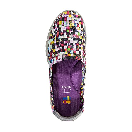 Cc Alpin Zee Alexis Womens Stella Stretchy Elastisk Slip-on Sko Mosaikk Multi