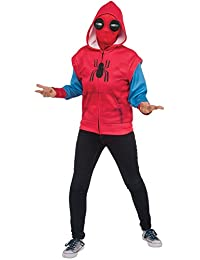 """Rubie's Costume Company 640144_S Spider-Man: Homecoming Child's """"Sweats"""" Spider-Man Costume Hoodie, Multicolor, Small"""