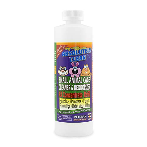(Amazing Small Animal Cage Cleaner - Just Spray/Wipe - Easily Removes Messes & Odors Hamsters,Mice,Rats,Guinea Pigs, Ferrets Veterinarian Approved USA)