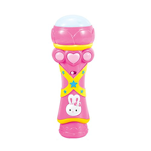 Children Toys, BESSKY Wireless Girls Boys LED Microphone Karaoke Singing Kid Funny Music Toy, Pink