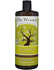 Dr. Woods Pure Cleansing Tea Tree Liquid Castile Soap, 32 Ounce