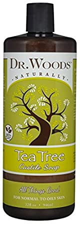 Dr. Woods Pure Cleansing Tea Tree Liquid Castile Soap, 32 Ounce by Dr. Woods