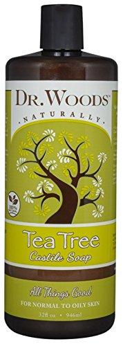 Dr. Woods Pure Tea Tree Liquid Castile Soap, 32 Ounce