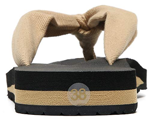 MAIITRIP Womens Comfortable Cloth Strap Flip Flops with Arch Support