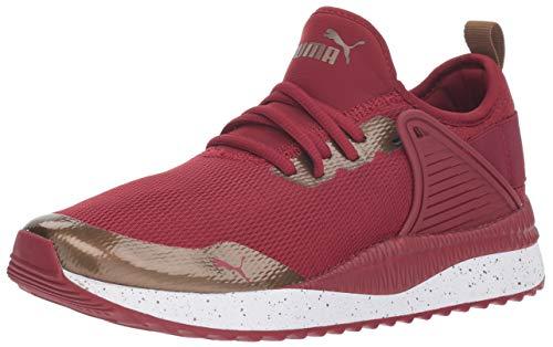 (PUMA Women's Pacer Next Cage Sneaker, Tibetan red-Metallic, 4.5 M US)