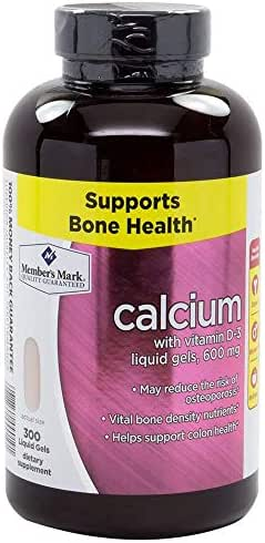 Member's Mark - Calcium 600 mg, With Vitamin D-3, 300 Liquid Gels