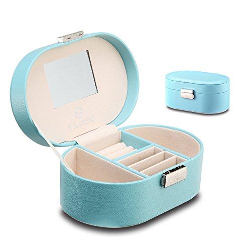 Vlando Memento Small Jewelry Box, Portable Storage Box for Jewels - Blue