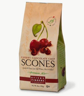 Cherry Scone Mix (Sticky Fingers Bakeries Scone Mix: Pack of 6, 15 oz Scone Mixes (Cherry Chocolate Chip))