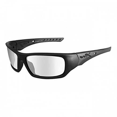 Changeable Matte Black Frame - Sunglasses WileyX CHANGEABLE Wx Vapor 3502RX 3502RX GREY/CLEAR/RUST/MATTE BLACK FRAME W/RX CARRIER by Wiley X