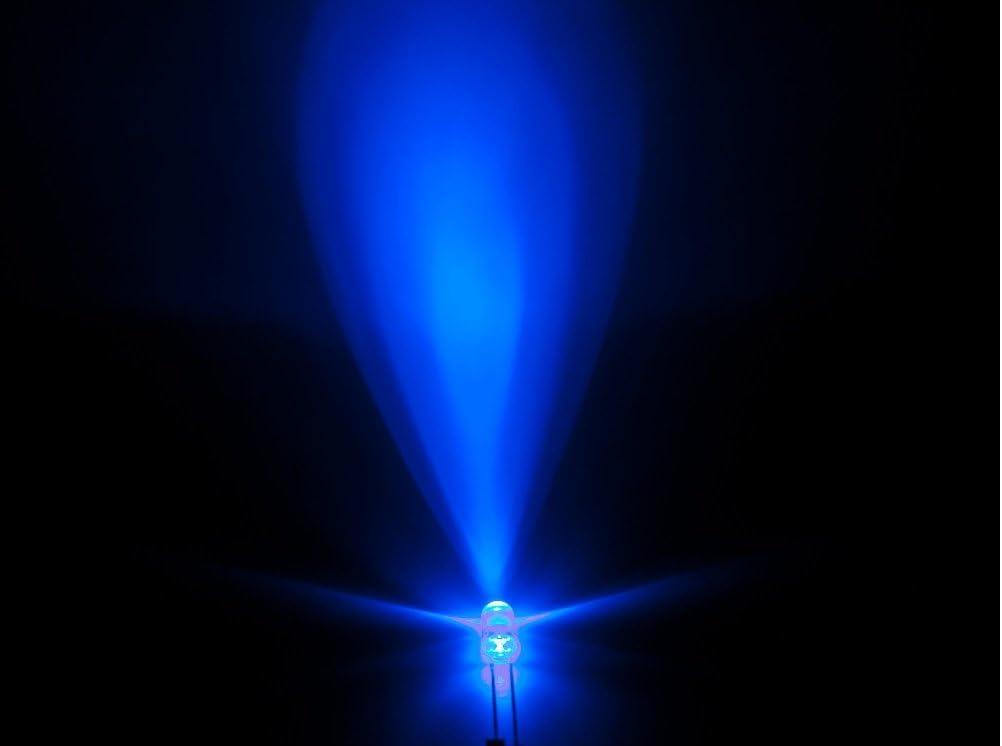 10pz Diodo LED 5mm TRASPARENTE BLU alta luminosità 7000mcd superluminosi