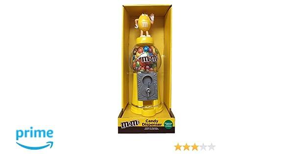 M&Ms - Dispensador de chocolate y caramelo, color amarillo, 23 cm: Amazon.es