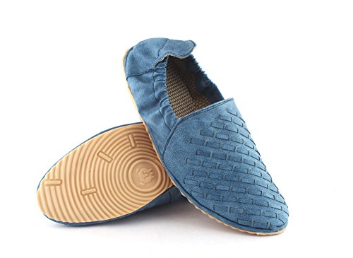 Loafer 10 Shoes Leather Driving Blue Men AORFEO Blue Shoe for Loafer Leather wxgpWB8qv
