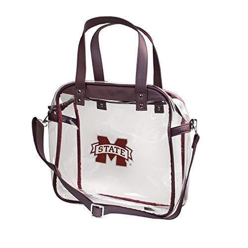 Capri Designs Clear Carryall Tote NFL Stadium Approved - Mississippi State University Bulldogs