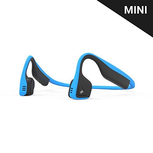 AfterShokz Titanium Mini Wireless Bone Conduction Bluetooth Headphones, Shorter Headband Size for Smaller Fit, Open-Ear Design, Ocean Blue, AS600MOB