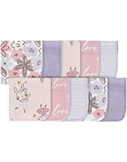 Gerber Baby 10-Pack Washcloths, Bunny Pink, One Size