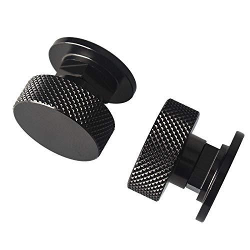 3mirrors Welding Hood (Pipeliner) Helmet Fasteners Aluminum - 1 Pair (Black Anodized Knurled)