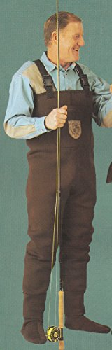 Men 3mm Walnut Brown RadialFlex Neoprene Fishing/Hunting Stocking Foot Wader Size 2XL