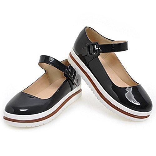 Servicio Redonda Durable Zapatos Jojonunu Tacon El Mujer Punta De d4x5AX