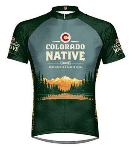 Colorado Native Beer Primal Wear Cycling jersey Men's Short Sleeve bike bicycle - Beer Short Sleeve Cycling Jersey