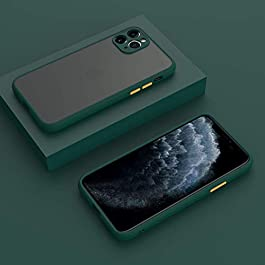 AE Mobile Accessories Back Cover for iPhone 11 Pro Smoke Translucent Shock Proof Smooth Rubberized Matte Hard Back Case Cover with Camera Protection (Dark Green)