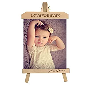 8-inch Personalised Solid Wood Photo Frames Creative Photo Frames Set a Table Children's Photo Frame Stand