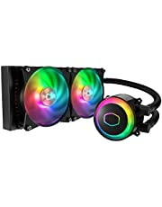Cooler Master MasterLiquid ML240R Addressable RGB ARGB Double 120mm (240mm) Fan All-in-One CPU Water Cooler - Black - MLX-D24M-A20PC-R1