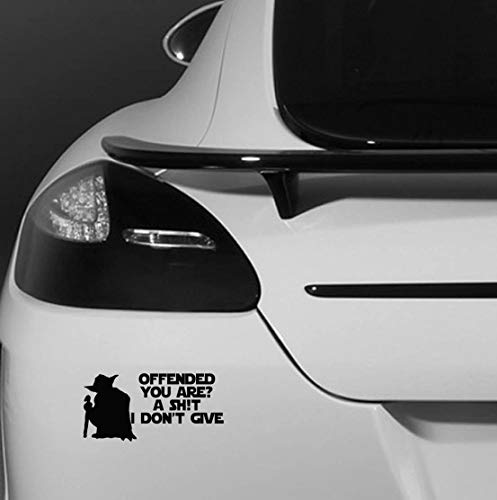 CELYCASY Offended You are A Shit I Don't Give - Yoda Star Wars Car Bumper Vehicle Sticker - Funny Humour Van Bike Motorbike Wall Laptop Ipad Window