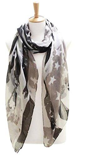 Knitting Factory Women's USA Flag Theme Vintage Kimono Shawl Selection (SCARF LOF082BK)