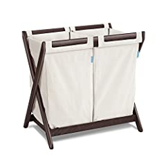 Extend the life of your bassinet stand by transforming it into a stylish dual compartment hamper. Two easy-to-attach and detach laundry bags - great for sorting. Convenient carry handles.