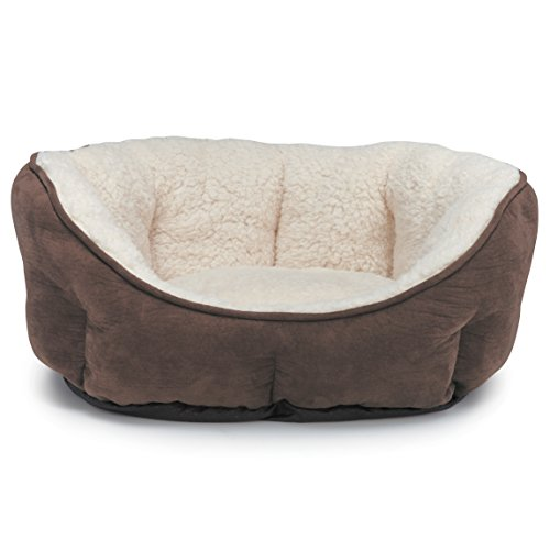 Slumber Pet ThermaPet Thermal Bolster Beds—Innovative and Comfortable Beds for Dogs and Cats Designed to Keep Pets Warm Using Their Own Body Heat, Not Electricity (Sherpa Pet Slumber Donut)
