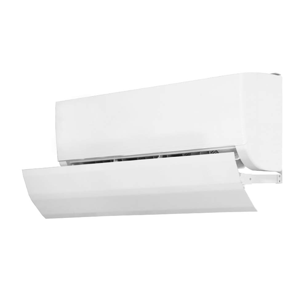 Air Conditioning Wind Deflector Shroud Protective Cover Anti Direct Blowing Adjustable Four Seasons Available White
