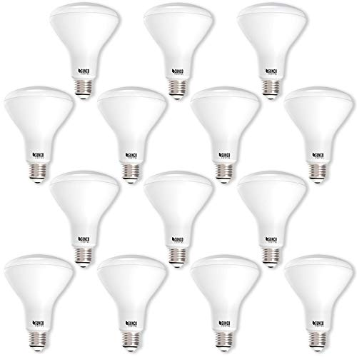Sunco Lighting 14 Pack BR30 LED Bulb 11W=65W, 2700K Soft White, 850 LM, E26 Base, Dimmable, Indoor Flood Light for Cans - UL & Energy - White Reflector Soft Indoor Floodlight